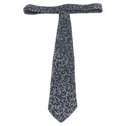 Boss By Hugo Boss Black Floral Jacquard Silk Tie