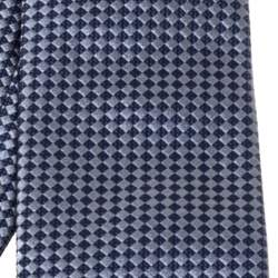 Boss By Hugo Boss Grey & Blue Checkered Silk Tie