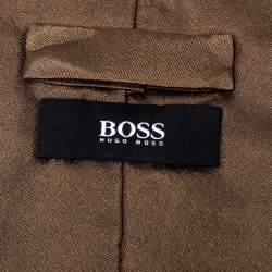 Boss By Hugo Boss Brown Silk Tie