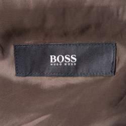 Boss By Hugo Boss Brown Wool Blend Blazer XXXL