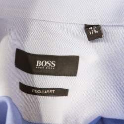 Boss By Hugo Boss Cotton Twill Long Sleeve Button Front Shirt 2XL  (EU 45)