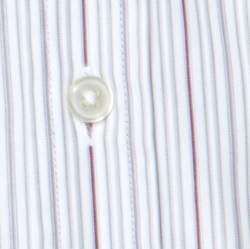 Boss by Hugo Boss White Striped Cotton Button Front Shirt L