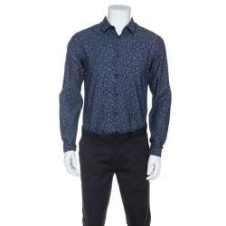 Boss By Hugo Boss Bicolor Printed Bersh Slim Fit Shirt M