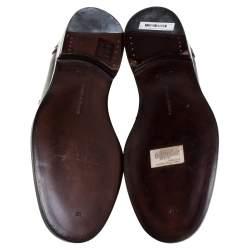 Bottega Veneta Black Leather Penny Loafers Size 42.5