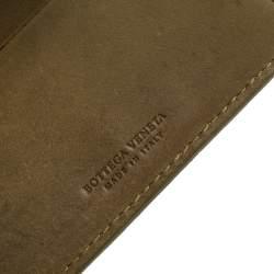 Bottega Veneta Khaki Green Intrecciato Leather Bi-Fold Wallet