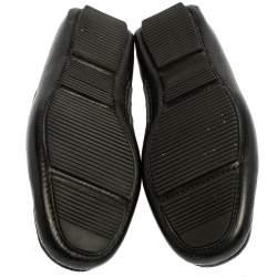 Bottega Veneta Black Intrecciato Leather Bow Slip On Loafers Size 40.5