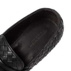 Bottega Veneta Black Intrecciato Leather Loafers 40