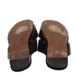 حذاء سلايدز فلات بوتيغا فينيتا سيور متعاكسة جلد انترشياتو أسود مقااس 42.5