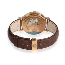 Breguet Silver 18K Rose Gold Classique Moonphase Power-Reserve 7787BR/29/9V6 Men's Wristwatch 39 MM