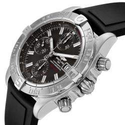 Breitling Grey Stainless Steel Galactic II Chronograph A13364 Men's Wristwatch 44 MM