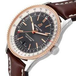 Breitling Grey 18K Rose Gold Navitimer 1 U17326 Men's Wristwatch 41 MM