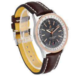 Breitling Grey 18K Rose Gold And Stainless Steel Navitimer 1 U17326 Men's Wristwatch 41 MM