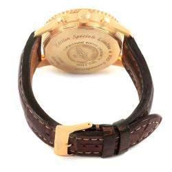 Breitling Black 18K Rose Gold Navitimer World Men's Wristwatch 46MM