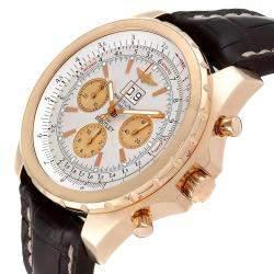 Breitling Silver 18K Rose Gold Bentley H44363 Men's Wristwatch 48 MM