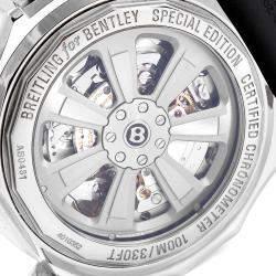 Breitling Black Stainless Steel Bentley GMT AB0431 Men's Wristwatch 49 MM