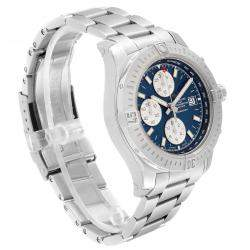 Breitling Blue Stainless Steel Colt Automatic Chronograph A13388 Men's Wristwatch 44 MM