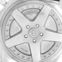 Breitling Silver Stainless Steel Bentley Motors A44362 Men's Wristwatch 49 MM