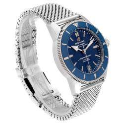 Breitling Blue Stainless Steel Superocean Heritage II AB2010 Men's Wristwatch 42 MM