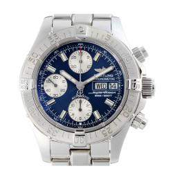 Breitling Blue Stainless Steel Superocean Chronograph A13340 Men's Wristwatch 42 MM