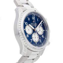 Breitling Blue Stainless Steel Navitimer 8 B01 Chronograph AB0117131/C1A1 Men's Wristwatch 43 MM