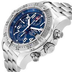 Breitling Blue Stainless Steel Avenger Skyland A13380 Men's Wristwatch 45 MM
