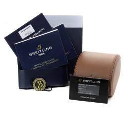 Breitling Green Stainless Steel Chronomat B01 AB0134 Men's Wristwatch 42 MM