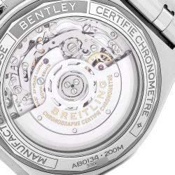 """ساعة يد رجالية بريتلينغ """"كرونوماتبي01 ايه بي01345"""" ستانلس ستيل خضراء 42 مم"""