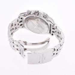 Breiltling White Stainless Steel Chronomat Airborne AB01154G Men's Wristwatch 44 MM
