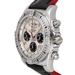 ساعة يد رجالية بريتلينغ كرونومات إيربورن AB01154G / G786 ستانلس ستيل فضية 44 مم
