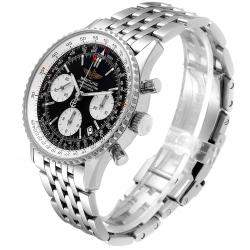 Breitling Black Stainless Steel Navitimer Chronograph A23322 Men's Wristwatch 42MM