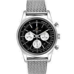 ساعة يد رجالية بريتلينغ ترانسأوشن كرونوغراف ليميتد 2000 أيه بي0151 ستانلس ستيل سوداء 43 مم