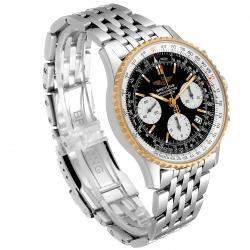 Breitling Black 18K Yellow Gold And Stainless Steel Navitimer D23322 Men's Wristwatch 42 MM