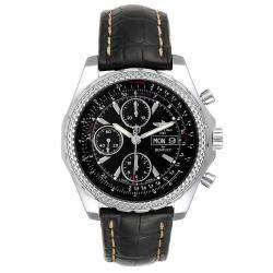 """ساعة يد رجالية بريتلينغ """"بينتلي موتورز جي تي إصدار خاص ايه13362"""" ستانلس ستيل سوداء 45 مم"""