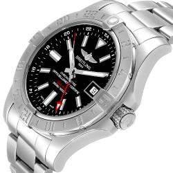 """ساعة يد رجالية بريتلينغ """"ايرومارين افينغير 2 جي إم تي ايه32390 أوتوماتيك"""" ستانلس ستيل سوداء 42 مم"""
