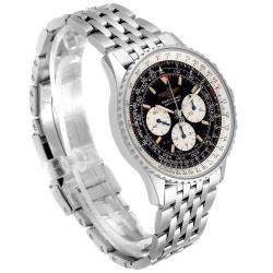 Breitling Black Stainless Steel Navitimer Limited Edition A11022 Men's Wristwatch 41.5 MM