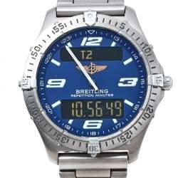 Breitling Blue Titanium Aerospace E6536210/C292 Men's Wristwatch 40 mm