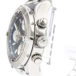 ساعة يد رجالية بريتلينغ كرونو سوبر أوشن أوتوماتيكية A13340 ستانلس ستيل زرقاء 42 مم