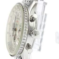 ساعة يد رجالية بريتلينغ نافي تايمر أوتوماتيك A41330 ستانلس ستيل فضية 38 مم