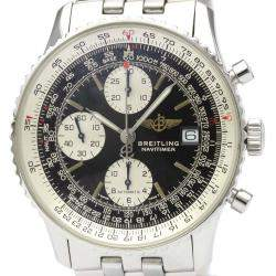 Breitling Black Stainless Steel Navitimer Automatic A13022 Men's Wristwatch 42 MM