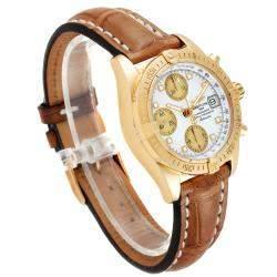 """ساعة يد رجالية بريتلينغ """"ويندريدير كوكبيت كيه13358"""" ذهب أصفر عيار 18 و ألماس و صدف 39 مم"""
