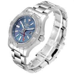 Breitling Blue MOP Stainless Steel Aeromarine Avenger II GMT A32390 Men's Wristwatch 42 MM