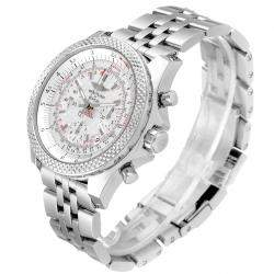 Breitling Silver Stainless Steel Bentley B06 Chronograph AB0612 Men's Wristwatch 49 MM