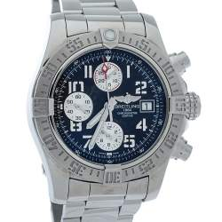 Breitling Black Stainless Steel Avenger ll Chronograph A13381 Men's Wristwatch 43 MM