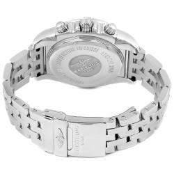 Breitling Grey Stainless Steel Chronomat Evolution Diamond AB0140 Men's Wristwatch 41MM