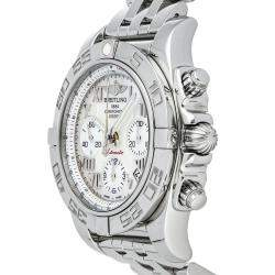 Breitling Silver Stainless Steel Chronomat AB014012/A746 Men's Wristwatch 41 MM