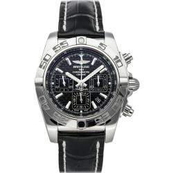 Breitling Black Stainless Steel Chronomat AB011012/BF76 Men's Wristwatch 44 MM