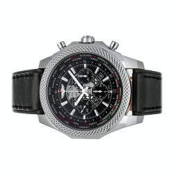 Breitling Black Stainless Steel Bentley B05 Unitime AB0521U4/BC65 Men's Wristwatch 49 MM