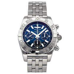 Breitling Blue Stainless Steel Chronomat B01 AB011012/C789 Men's Wristwatch 44 MM