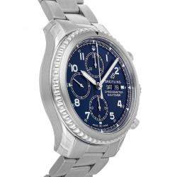 Breitling Blue Stainless Steel Navitimer 8 Chronograph A13314101C1A1 Men's Wristwatch 43 MM