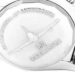 ساعة يد رجالية بريتلينغ كرونومات أيربورن أيه بي0115 ستانلس ستيل فضي 44 مم